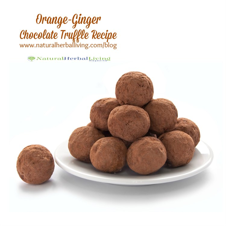 orange ginger chocolate truffle